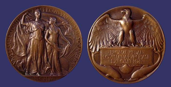 Adolph Weinman's award medal for 1904 Louisiana Purchase Exposition