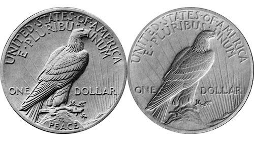 Peace Dollar Design with Broken Sword