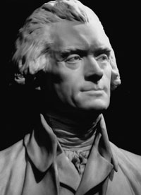 Jefferson's Bust sculpted by Jean-Antoine Houdon