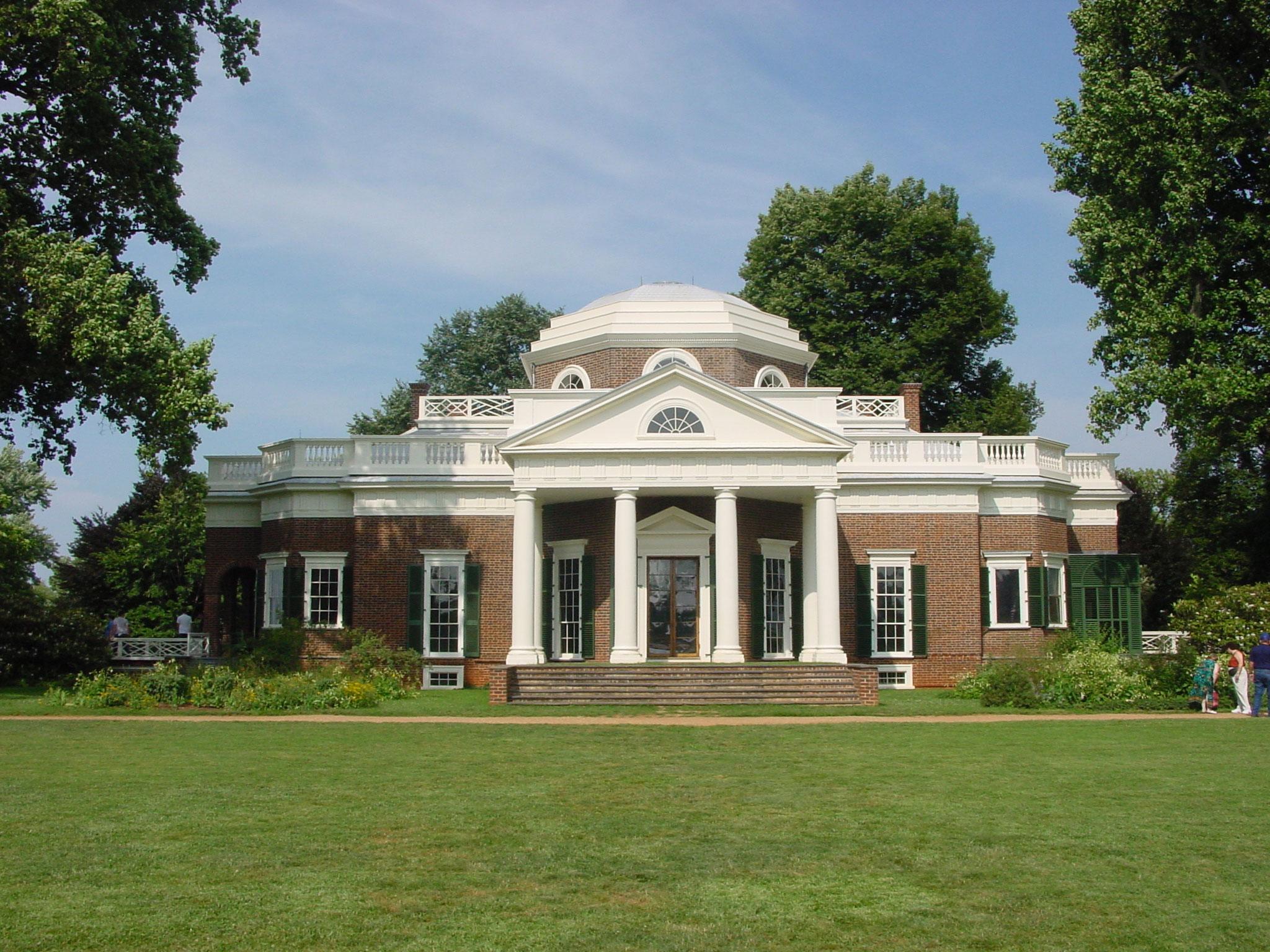 Photo of Jefferson's Monticello, Jefferson Nickel