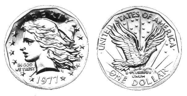 Frank Gasparro Flowing Hair Liberty Head Small Dollar