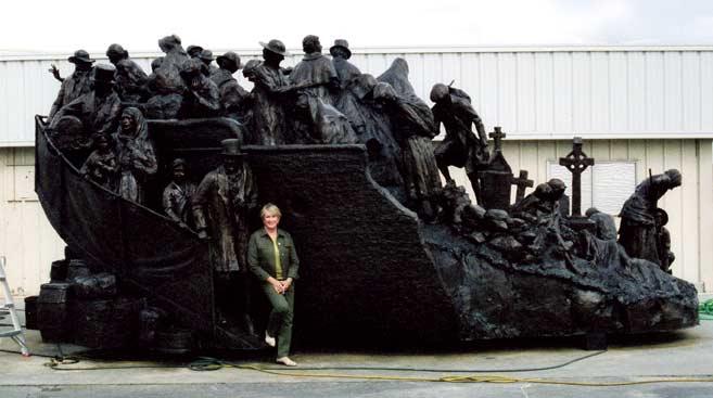 Irish Famine Memorial - By Glenna Goodacre
