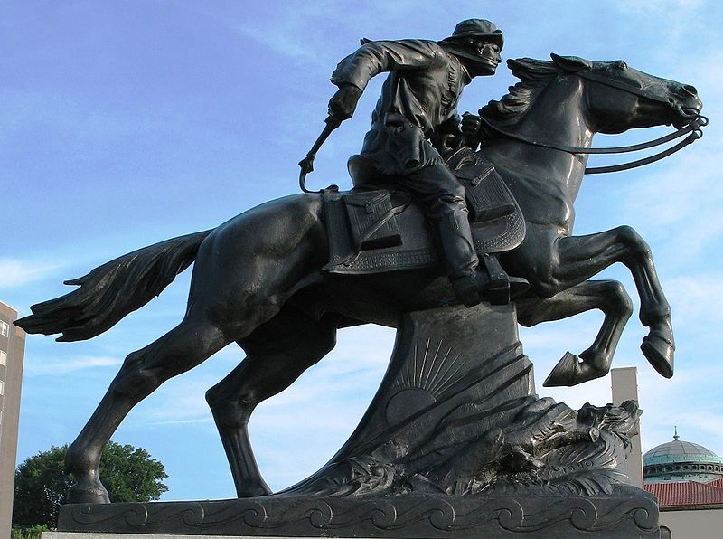 Pony Express Monument designed by Hermon MacNeil