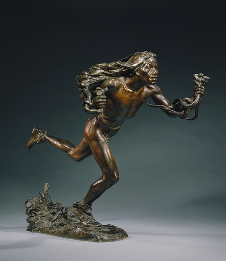 The Moqui Runner, Returning of the Snakes sculpture by Hermon MacNeil