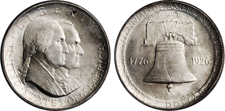 1926 Sesquicentennial American Independence Half Dollar