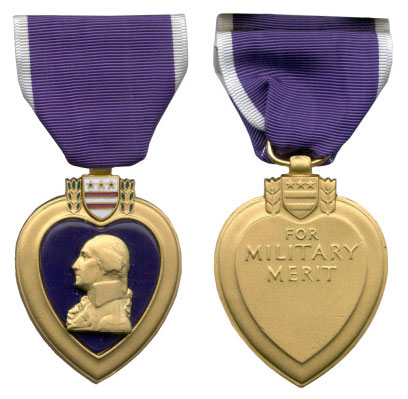 Purple Heart Medal - Modeled by John Sinnock
