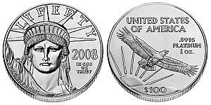 One Ounce $50 Gold Platinum Eagle