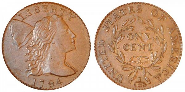 1795 Liberty Cap Large Cent Penny - Exact Head of 1795