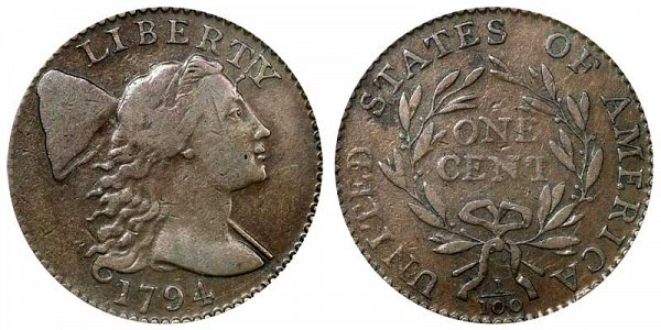 1795 Liberty Cap Large Cent Penny - Head of 1795