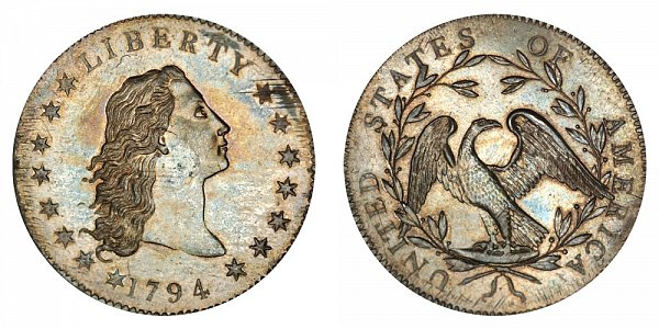 1794 Flowing Hair Silver Dollar - Silver Plug