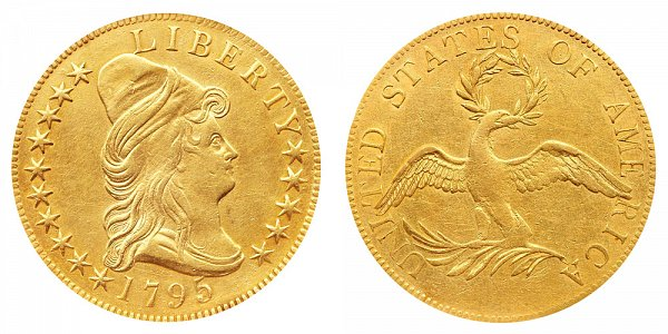 1795 13 Leaves -Turban Head $10 Gold Eagle - Ten Dollars