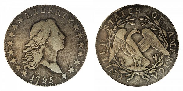 1795 Flowing Hair Half Dollar - 3 Leaves Under Each Wing of Eagle