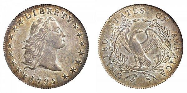 1795 Flowing Hair Silver Dollar - 3 Leaves