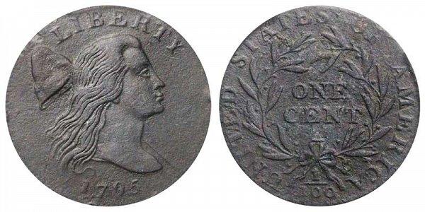 1795 Liberty Cap Large Cent Penny - Jefferson Head - Lettered Edge