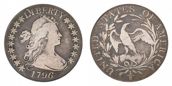 1796 Draped Bust Half Dollar - 16 Stars