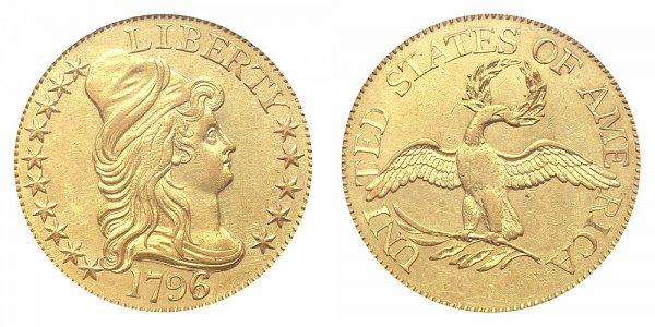 1796/5 Small Eagle - Turban Head $5 Gold Half Eagle - Five Dollars