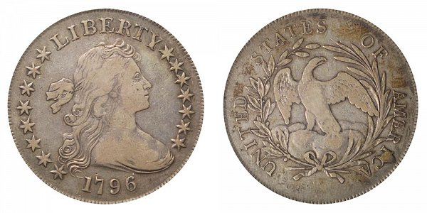 1796 Draped Bust Silver Dollar - Large Date - Small Letters