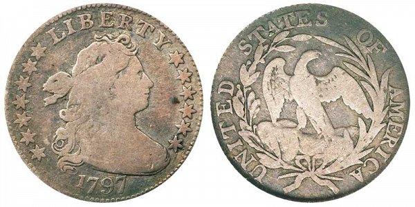 1797 Draped Bust Half Dime - 13 Stars
