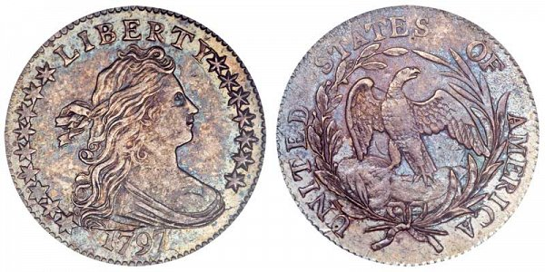 1797 Draped Bust Dime - 16 Stars