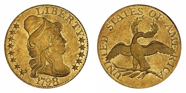 1798 Small Eagle - Turban Head $5 Gold Half Eagle - Five Dollars