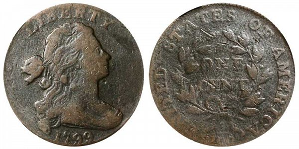 1799 Draped Bust Large Cent Penny - Normal Date
