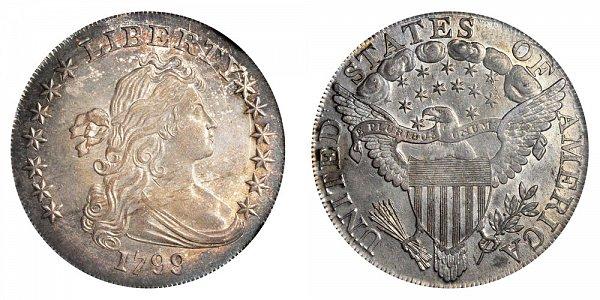 1799/8 Draped Bust Silver Dollar - Irregular Date - 15 Stars Reverse