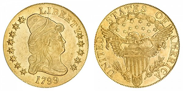 1799 Small Stars - Turban Head $10 Gold Eagle - Ten Dollars