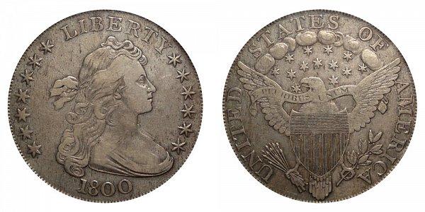 1800 Draped Bust Silver Dollar - 12 Arrows