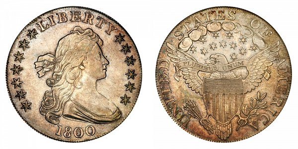 1800 Draped Bust Silver Dollar Varieties - Difference and Comparison