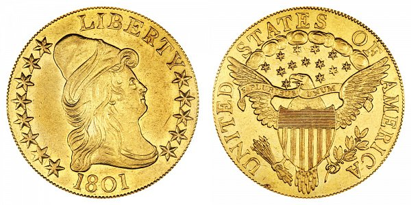 1801 Turban Head $10 Gold Eagle - Ten Dollars