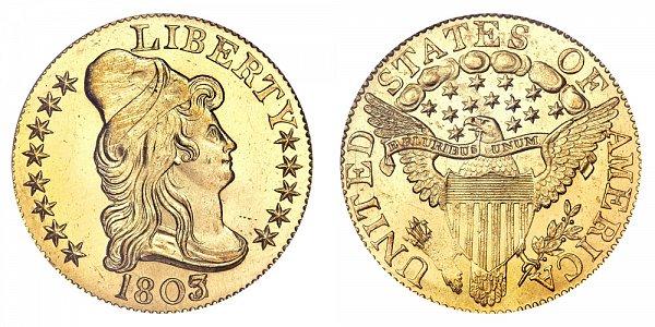 1803/2 Turban Head $5 Gold Half Eagle - Five Dollars