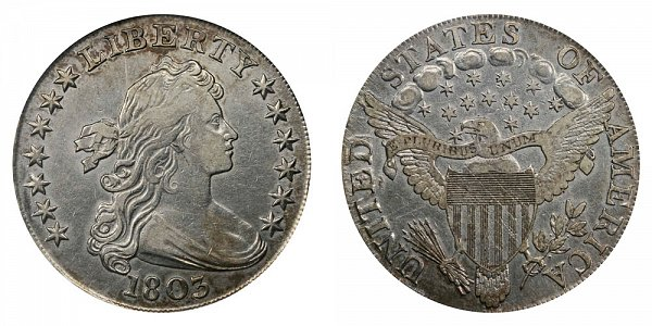 1803 Draped Bust Silver Dollar - Large 3