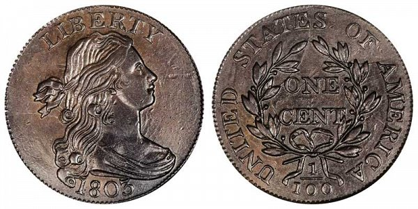 1803 Draped Bust Large Cent Penny - Large Date - Large Fraction