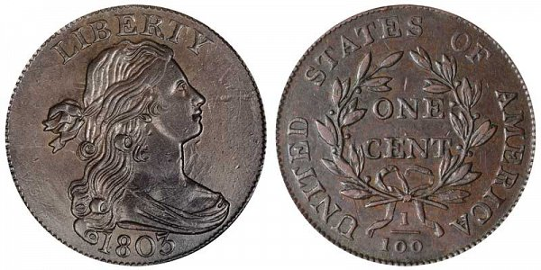 1803 Draped Bust Large Cent Penny - Large Date - Small Fraction