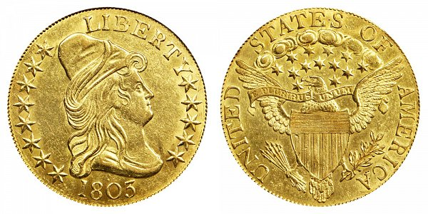 1803 Large Stars - Turban Head $10 Gold Eagle - Ten Dollars