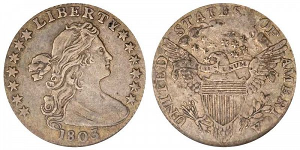 1803 Draped Bust Half Dime - Small 8