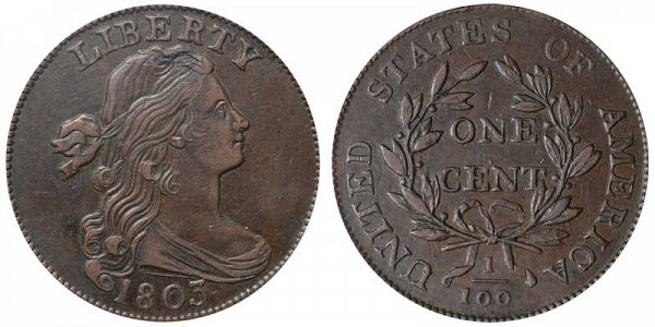 1803 Draped Bust Large Cent Penny - Small Date - Small Fraction