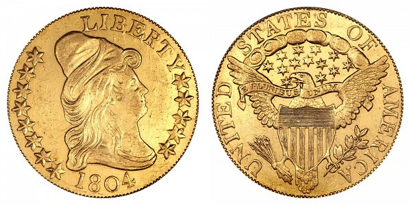 1804 Crosslet 4 - Turban Head $10 Gold Eagle - Ten Dollars