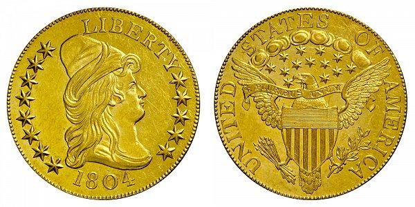 1804 Plain 4 - Turban Head $10 Gold Eagle - Ten Dollars - Restrike Proof