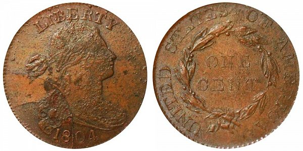 1804 Draped Bust Large Cent Penny - Unofficial Restrike