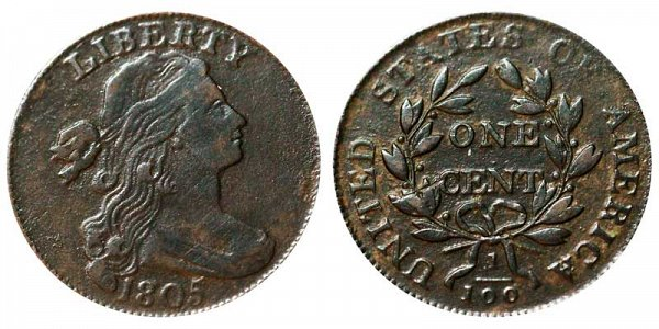 1805 Draped Bust Large Cent Penny