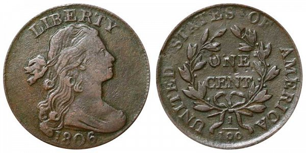 1806 Draped Bust Large Cent Penny