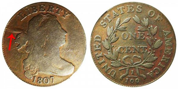 1807 Draped Bust Large Cent - Comet Variety