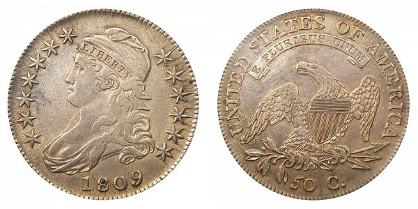 1809 Capped Bust Half Dollar - Edges Varieties - Differences and Comparisons