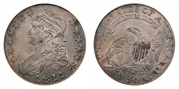1811 Capped Bust Half Dollar - Large 8