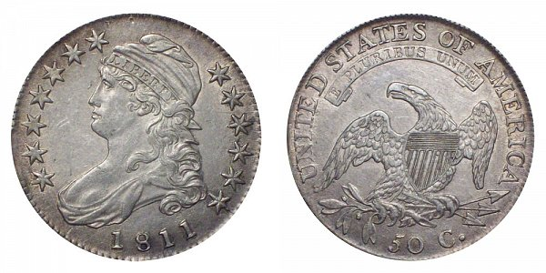 1811 Capped Bust Half Dollar - Small 8