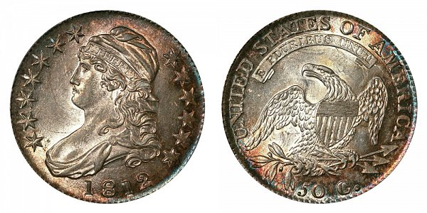 1812 Capped Bust Half Dollar - Normal Date