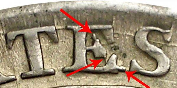 1814 E/A Capped Bust Half Dollar - E Over A Error