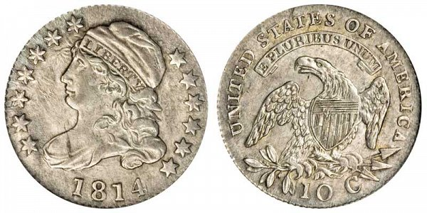 1814 Large Date Capped Bust Dime
