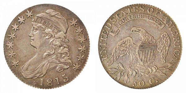 1815/2 Capped Bust Half Dollar - 5 Over 2 Overdate Error